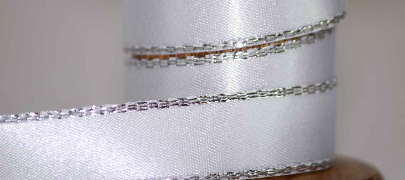 Gold or Silver Edged Ribbons