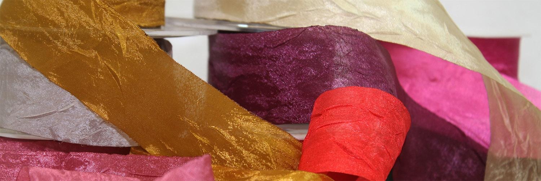 Crushed Silk Ribbons