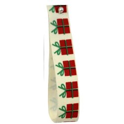 Christmas Present - Cotton Ribbon 15mm x 5m