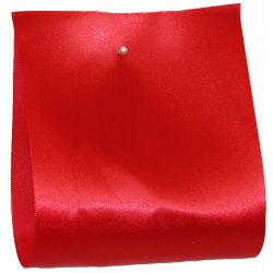 100mm x 50m Single Satin Wide Ribbon  col; Red
