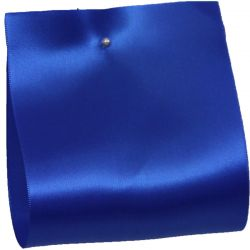 100mm x 50m Single Satin Wide Ribbon  col: Royal Blue