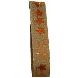 Merry Stars In Copper 15mm 20m