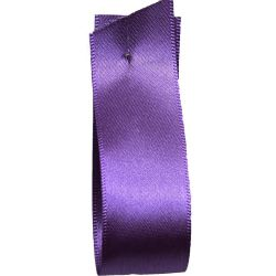 Shindo Double Satin Ribbon Deep Purple (Col:176) - 3mm - 50mm widths