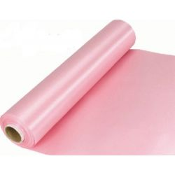 29cm Wide Lt Pink Cut Edged Satin Fabric