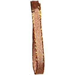 Bronze 3mm Lame Christmas Style Ribbon From Shindo