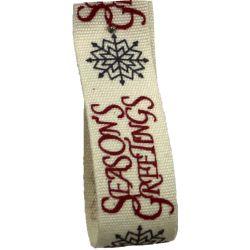 Seasons Greetings Ribbon 15mm x 5m