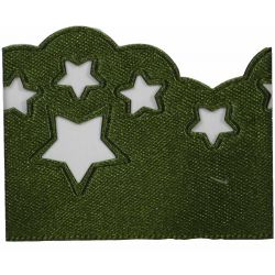 Scatter Star Satin Ribbon Col; Cypress