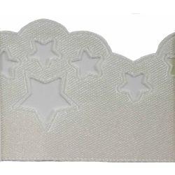 Scatter Star Satin Ribbon Col; Bridal White