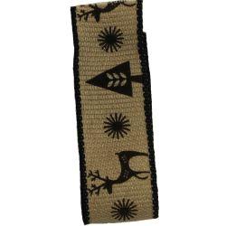Black Scandichic Deer Ribbon 25mm x 3m