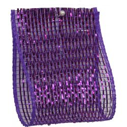 Purple Deco Mesh 63mm x 10m