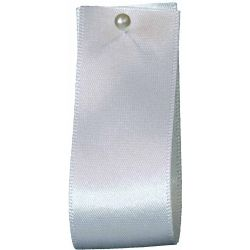 Double Satin Ribbon By Berisfords Ribbons: White (Col 1) - 3mm - 70mm widths