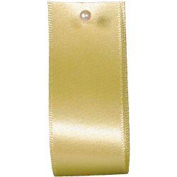 Double Satin Ribbon By Berisfords Ribbons: Pale Lemon (Col 14)- 3mm - 70mm widths