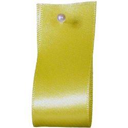 Double Satin Ribbon By Berisfords Ribbons: Lemon (Col 5)- 3mm - 70mm widths
