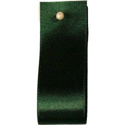 Double Satin Ribbon By Berisfords Ribbons: Forest (Col 969)- 3mm - 70mm widths