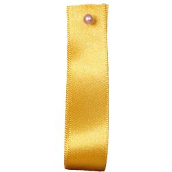 Double Satin Ribbon By Berisfords Ribbons: Gold (Col 37)- 3mm - 70mm widths