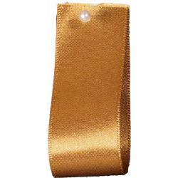 Double Satin Ribbon By Berisfords Ribbons: Old Gold (Col 20)- 3mm - 70mm widths