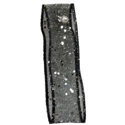 Random Glitter Sheer Ribbon col: Black 10