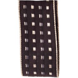 Black Gimp Stitch Ribbon