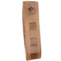 Dot Ribbon in Bronze with Copper Stitched Square Pattern 15mm x 15m. Art 60179