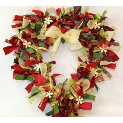 Design Your Own Christmas Ribbon Wreath Kit