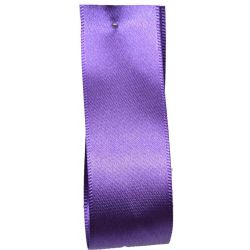 Shindo Double Satin Ribbon Purple (Col:125) - 3mm - 38mm widths