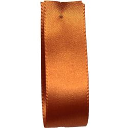 Shindo Double Satin Ribbon Copper (Col:161) - 3mm - 38mm widths