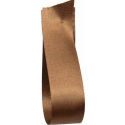 Shindo Double Satin Ribbon Chocolate Brown (Col:162) - 3mm - 50mm widths