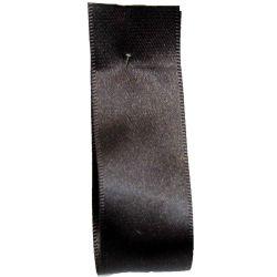 Shindo Double Satin Ribbon Dark Brown (Col:163) - 3mm - 38mm widths