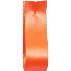 Shindo Double Satin Ribbon Flo Orange  (Col:188) - 3mm - 38mm widths