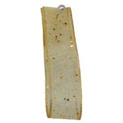 Random Glitter Sheer Ribbon col: Honey Gold 678