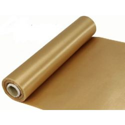 29cm Wide Gold Cut Edged Satin Fabric