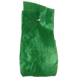 Crushed Silk Style  Ribbon 38mm x 20m Col: Emerald