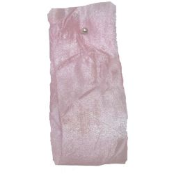 Crushed Silk Style Ribbon 38mm x 20m Col: Pale Pink