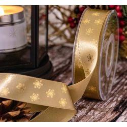 strae coloured polka dot ribbon 25mm