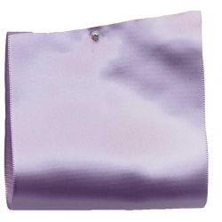 100mm x 50m Single Satin Wide Ribbon  col; Lilac