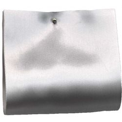 Silver - 100mm Wide Satin Ribbon