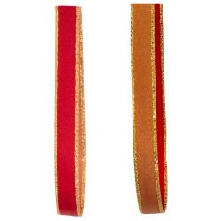 red and sable reversible ribbon