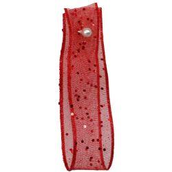 Random Glitter Sheer Ribbon Col: Red 15