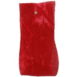 Crushed Silk Style Ribbon 38mm x 20m Col: Red