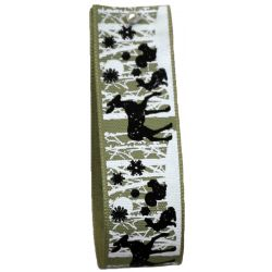 Woodland Animal Ribbon In Green Article 14568