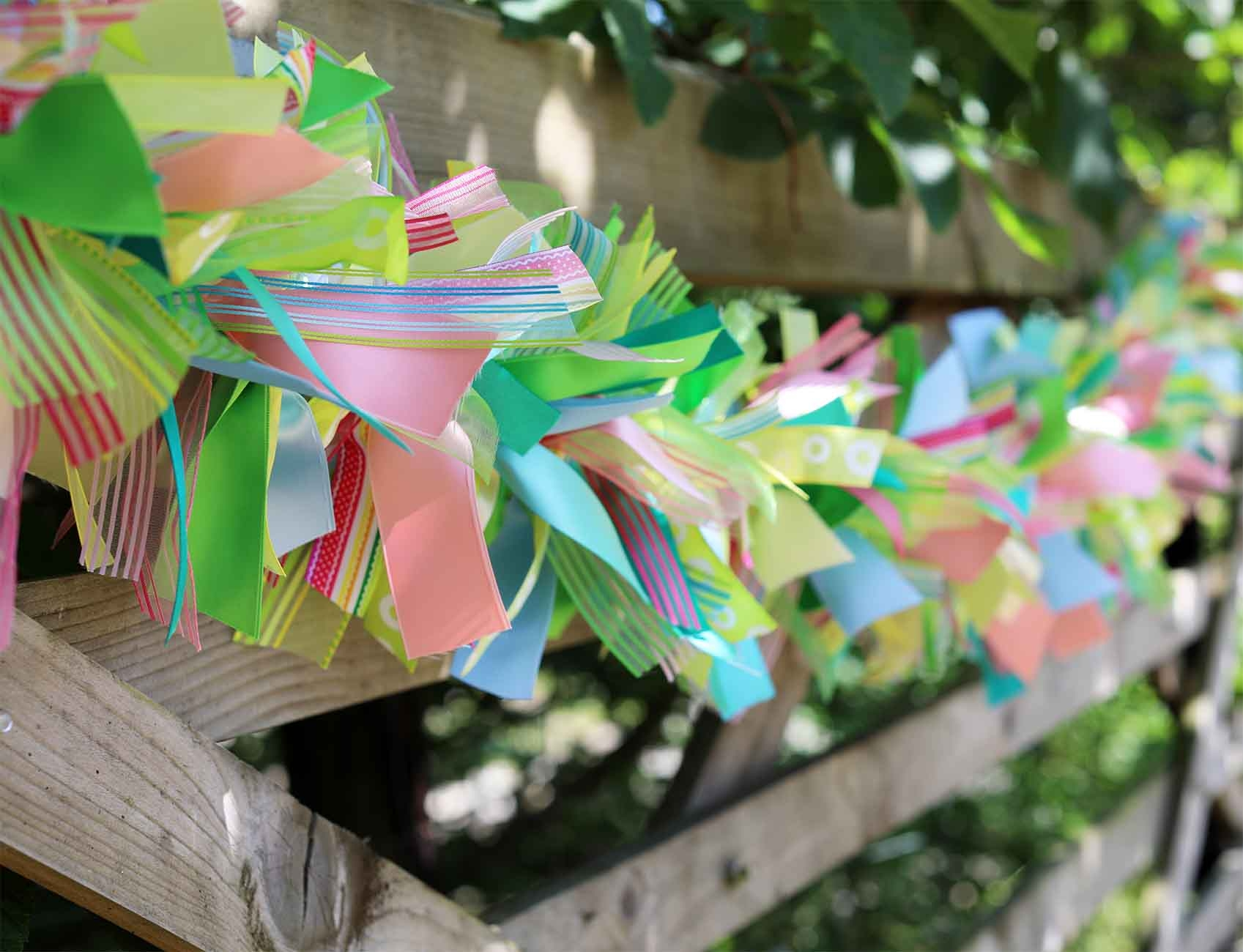 summer ribbon garland